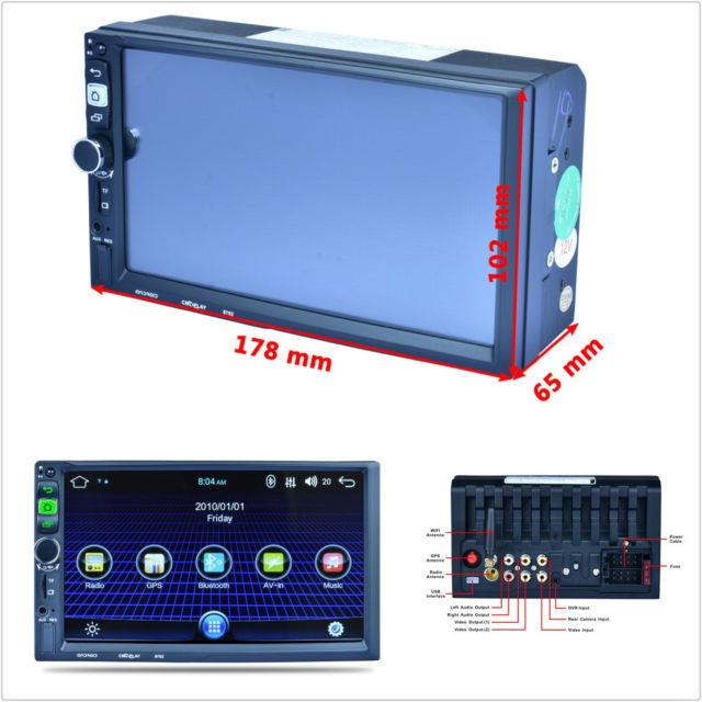 7'' In-dash Car Suv Hd 1080p Gps Navigation Wifi Bluetooth Mp5 Player Fm Android