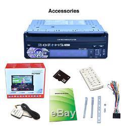 7 Touch Screen Single Din Car Mp5 Player Radio Stereo Gps Sat Nav 8g Map Card