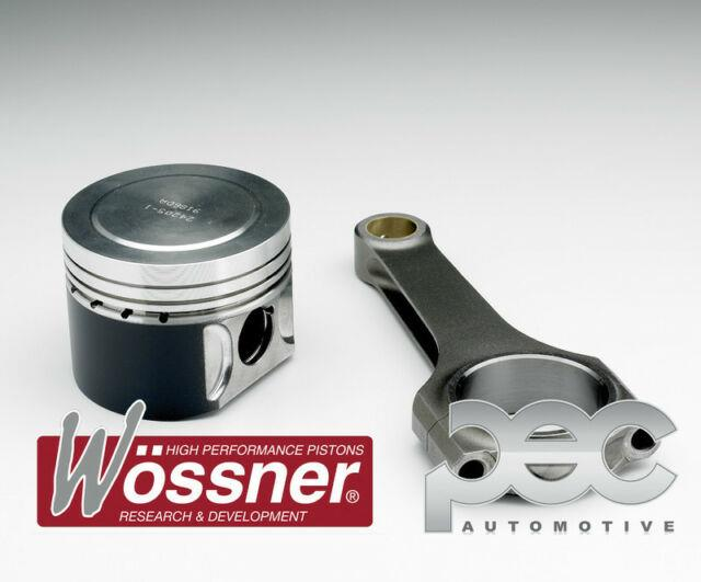 8.81 Wossner Forged Pistons + Pec Steel Rods For Vauxhall Astra Gsi 2.0t Z20let