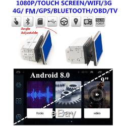 8 Core Android 8.0 1+16G 9 Double 2DIN Car Stereo Radio GPS Navi OBD TPMS WIFI