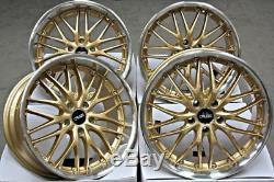 ALLOY WHEELS X 4 18 GOLD CRUIZE 190 FITS 5x110 VAUXHALL ASTRA CORSA ZAFIRA