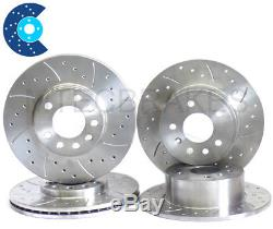 ASTRA TURBO COUPE ZAFIRA Drilled & Grooved Front and Rear Brake Discs