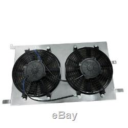 Aluminum Radiator+Fan Shroud fits VAUXHALL Astra TS MK4 Z20LET ZAFIRA GSI SRI