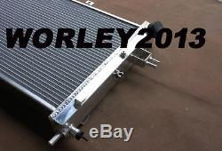 Aluminum radiator + fan for OPEL Astra G MK4 GSI SRI & Vauxhall Zafira 2.0 Turbo