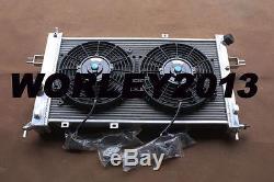 Aluminum radiator +fans for OPEL Astra G MK4 GSI SRI & Vauxhall Zafira 2.0 Turbo