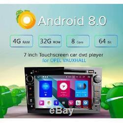 Android 8.0 DAB+ GPS Sat Nav OBD2 Stereo Opel Vauxhall Vextra Astra Corsa Zafira