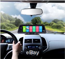 Android 8.1 10 Streaming Car Wifi 4G GPS DVR Dual FHD Video Recorder Dash Cam