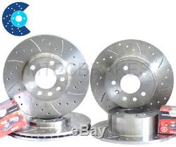 Astra mk4 5 Stud Drilled Grooved Front Rear Discs Pads