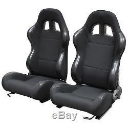BLACK RECLINING BUCKET CAR SEATS FOR VAUXHALL ASTRA INC SRi/GSi/VXR