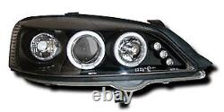 Black Angel Eye Projector Headlights Lamp For Vauxhall Astra G Mk4 98-04