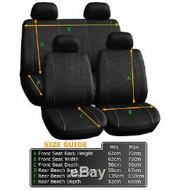 Black Grey Car Seat Covers Protector Washable Pet Full Set Front Rear Vauxhall