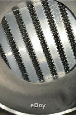 Black universal front mount intercooler 475mm x 220mm x 70mm 2.5 63mm