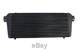 Black universal front mount intercooler 700mm x 300mm x 100mm 3 63mm