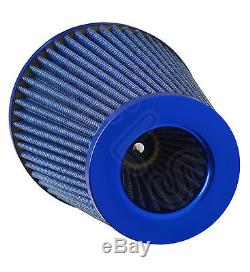 Blue K&n Type Universal Freeflow Performance Air Filter & Adapters Va-1