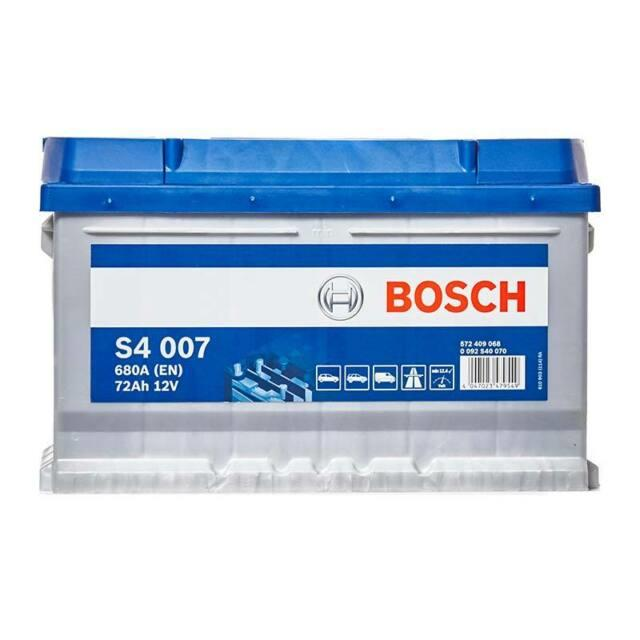 Bosch S4007 S4 100 Car Battery 4 Years Warranty 72ah 680cca 12v Electrical
