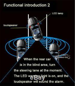 Car Blind Spot Monitoring BSM Radar Detection System Microwave Sensor Assistant
