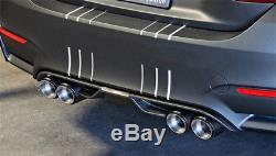 Carbon Fiber Car SUV Dual Exhaust Pipe Tail Muffler Tip Chrome Blue (Left+Right)