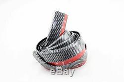Carbon Fibre Style 2.5m Bumper Side Skirt Spoiler Splitter Lip Guard Protector