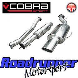 Cobra Sport Astra GSI MK4 Exhaust System 3 Stainless Cat Back Resonated VZ04g