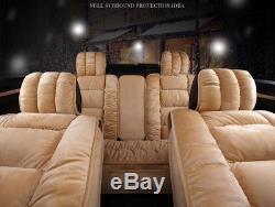Durable 3D Car Seat Covers Interior Accessories Decor Cushion Artificial Plush