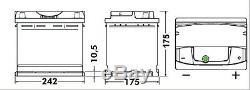 EA612 Exide Premium 60Ah 600CCA 12v Type 075 W075TE Car Battery 4 Year Warranty