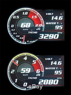 English Version OBD2 Digital Car Turbo Boost Multi-Gauge Meter Monitoring Alarm