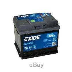 Exide44Ah 420CCA 12v Type 063 Car Battery 3 Year Warranty EB442/EA472 Alt