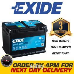 Exide EK700 096 AGM Car Van Battery 12V 70Ah 760A Next Day Delivery
