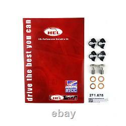 FULL KIT HEL Brake Lines For Vauxhall Astra MK4 Convertible 2.2 Rear Discs 01-06