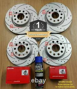 For Audi A6 Tdi Mk4 Black Edition Drilled & Grooved Discs & Brembo Pads