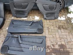 Full black heated leather interior Vauxhall Astra G Mk4 coupe seats door cards