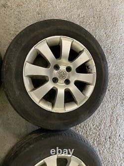 Genuine OEM Audi Vauxhall Astra Mk4 15 4x100 alloy wheels + tyres