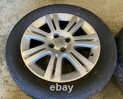 Genuine OEM Vauxhall 16 4x100 Alloy Wheels + Tyres Meriva Astra MK4