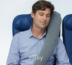 Grey Travel Pillow Neck Pillow Adjustable Travel Accessories for Airplanes Car