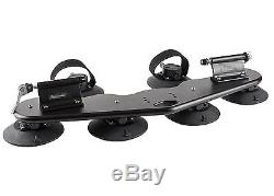 Heavy Duty Black Metal Car 4x4 Off-Road Roof 2-Bike Fork-Mount Fixed Holder Kit