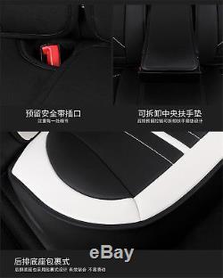 Luxury Microfiber Leather Breathable Car 5-Sit Cover Cushion Set 6D FullSurround