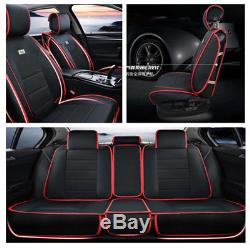 Luxury PU Leather 3D Car-styling 5-saets Car Seat Covers Cushions All Seasons