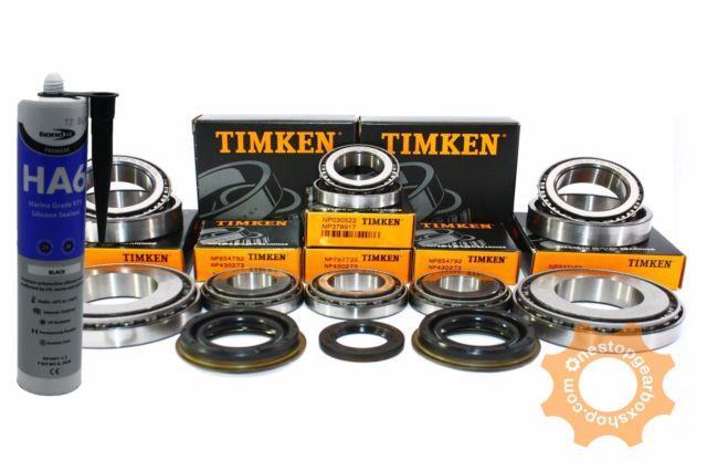 M32 Gearbox Bearing Rebuild Repair Kit Timken 8 Bearings 4 Seals (27mm Input)