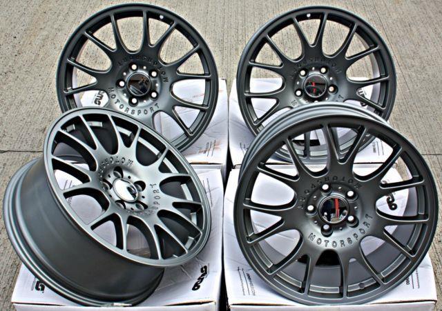 Mesh Rt 18 Alloy Wheels 18 Inch Alloys Cross Spoke Gunmetal 5x110 Wheels