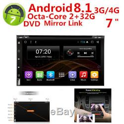 Octa-Core Android 8.1 2G RAM 7'' Double 2DIN Car GPS Navigation DVD Stereo Radio