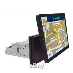 Rotatable 1 DIN Android 8.1 10.1'' Car Stereo Radio GPS WiFi 3G 4G BT MP5 Player