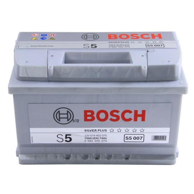 S5007 S5 100 Car Battery 5 Years Warranty 74ah 750cca 12v Electrical By Bosch