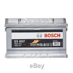 S5 100 Car Battery 5 Years Warranty 74Ah 750cca 12V Electrical Bosch S5007