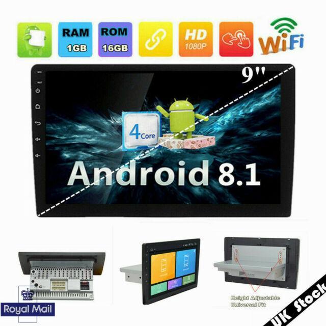 Single 1 Din Adjustable 9 Android 8.1 Car Stereo Radio (1g+16g) Gps Uk Stock