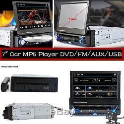 Single-DIN 7 Contraction Screen Bluetooth Car MP5 Player+Rear Camera FM/AUX/USB