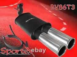 Sportex Vauxhall Astra coupe mk4 performance back box