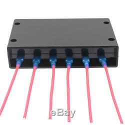 Touch Screen 6 Gang Switch Panel Boat Part Off Shore 12V 24V Blue Marine Yacht