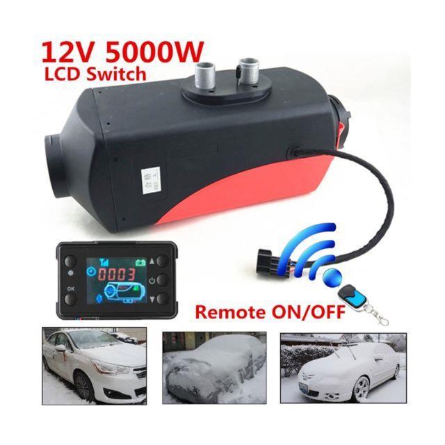 Trucks, Boats, Bus12v 5000w Lcd Monitor Air Diesel Fuel Heater 5kw Planar Remote