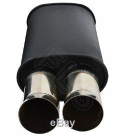Universal Performance Full Flow Stainless Steel Exhaust Backbox Lmc-006-vxl2
