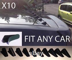Universal Spoiler Roof Fins Vortex Generator Kit Shark EVO Styling